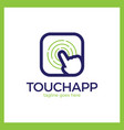 touch app logo vector image vector image
