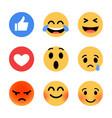 trendy flat design emoji vector image vector image
