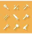 Trendy flat working tools icons vector image vector image