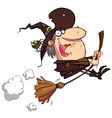 Witch rides broom vector | Price: 1 Credit (USD $1)