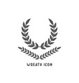 wreath icon simple flat style vector image vector image