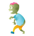 zombie cute cartoon character vector image vector image