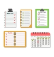 Sticker notes vector image