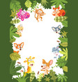 animals banner vector image