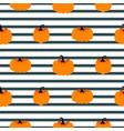 halloween pumpkin seamless striped pattern vector image
