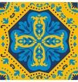 A colorful Portuguese azulejo tile vector image vector image