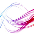 Abstract bright transparent swoosh lines vector image vector image
