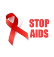 AIDS Awareness Ribbon vector image vector image