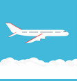 airplane in the sky commercial airplane in side vector image vector image