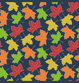 autumn pattern with falling maple leaves vector image vector image