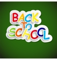 Back to School Label Concept vector image