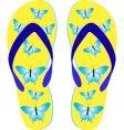 beach sandals vector image vector image