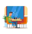 cafe design element with vector image vector image