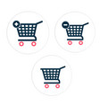 cart set icon circle frame background image vector image