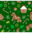 Christmas seamless texture with Christmas vector image vector image