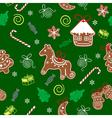 Christmas seamless texture with Christmas vector image vector image