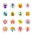 Circus comics icons set vector image vector image