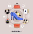 clothes flat composition vector image