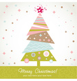 Colorful design Christmas tree with xmas toys vector image vector image