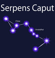 constellation serpens caput with stars unukalhai vector image vector image