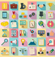 corporate governance icons set flat style vector image