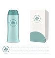 Cosmetic bottle and a box vector image vector image