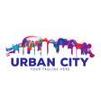 creative urban city logo template vector image vector image