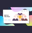 cybersport e-games tournament landing page vector image