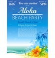Day beach poster for hawaiian party with hibiscus vector image vector image
