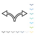 divide arrow left right icon vector image vector image