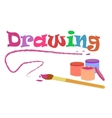 drawing with brush and colors vector image vector image
