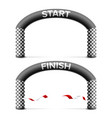 finish start line arch isolated sport vector image