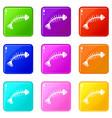 fish bones icons 9 set vector image vector image