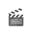 flat style of clapboard Icon for web vector image vector image