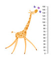 funny giraffe cheerful funny giraffe with long vector image vector image