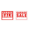 garage sale sign sign red yard sales street signs vector image