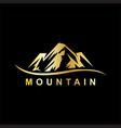 gold mountain business logo vector image
