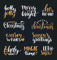 handwritten christmas and new year vector image