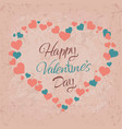 happy valentine day hand drawing lettering vector image