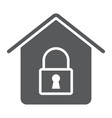 home lock glyph icon real estate and home vector image vector image