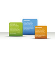 infographic 3 options template 3d vector image vector image