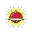 Linear Icon Restaurant Cloche vector image