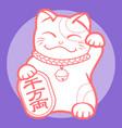 lucky cat maneki neko japan 04 vector image