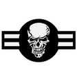 Military aircraft emblem with skull roundel