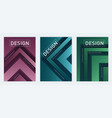 modern abstract geometric a4 size cover designs vector image
