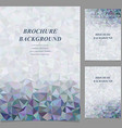 Modern geometric brochure template design vector image vector image