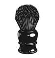 monochrome barber shaving brush concept