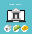 online payments vector image vector image