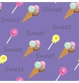 Pattern with ice cream2 vector image vector image