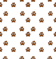 paw background pattern vector image
